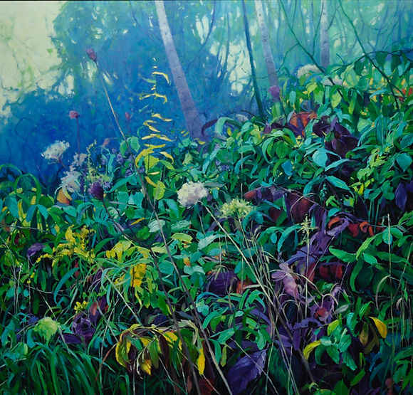 multi-colour oil painting titled SOLD - One and a Million by artist wendy bermingham