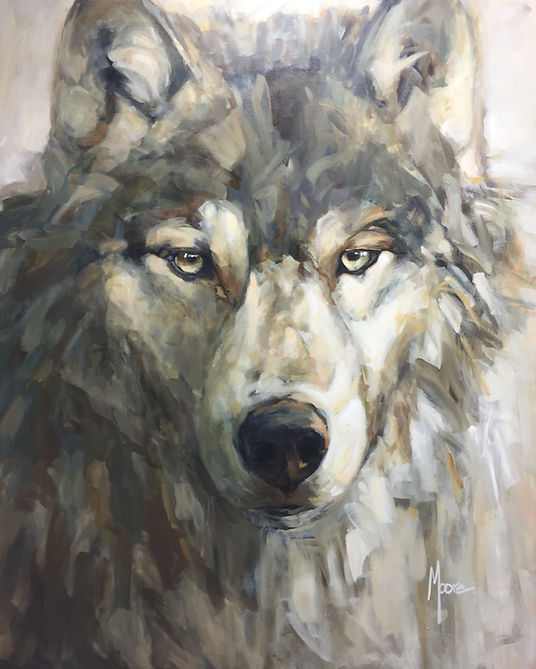 multi-colour acrylic painting titled The Wild Within by artist andrea moore.