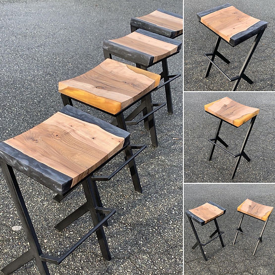 furninture titled (SOLD)Anomaly Bar Stool Collection by artist benjamin mclaughlin.
