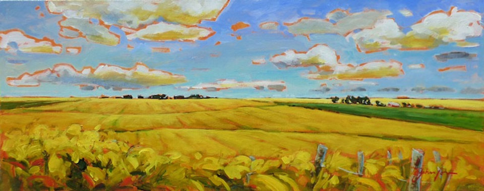 multi-colour acrylic painting titled Sweet Summertime by artist gail johnson.