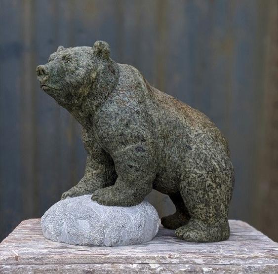 brazilian soapstone sculptor titled Hemlock Bear by sculptor andrew gable.