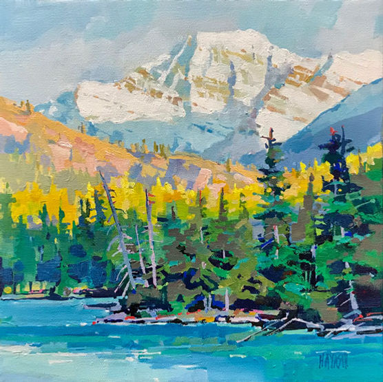 multi-colour arcylic painting titled SOLD-Edith over Beauvert by artist randy hayashi.