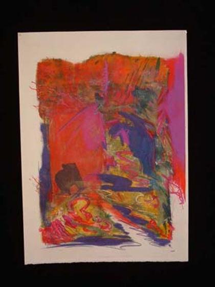 multi-colour mixed media painting titled Enjoying Flight- Kamchatka by artist maureen enns