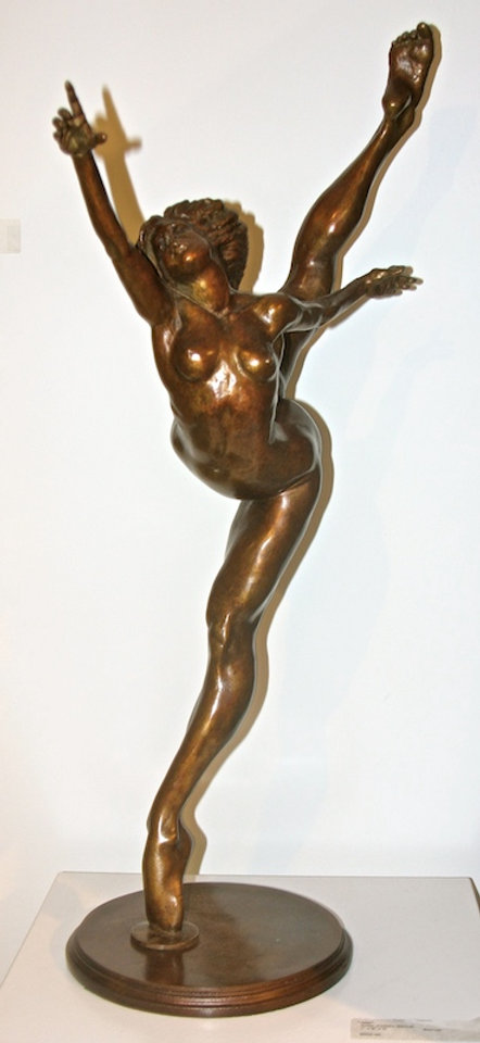 bronze sculpture titled Motion 6' by andrew benyei