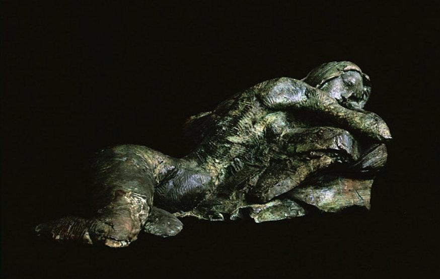 bronze sculpture titled Dreamer by artist camie geary-martin.