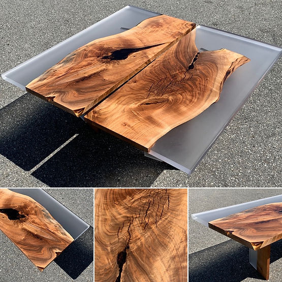 furninture titled Diptych 'Continuation' Coffee Table by artist benjamin mclaughlin.
