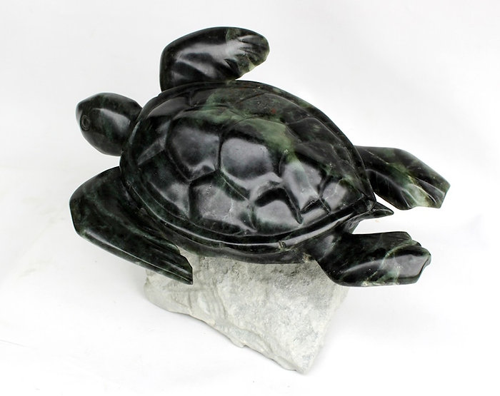 soapstone scupture titled SOLD-Ocean Glider by sculptor roy hinz.