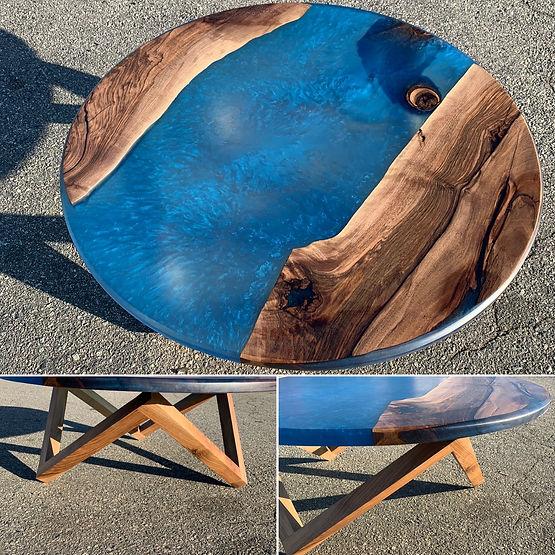 furninture titled Ocean Cookie Coffee Table by artist benjamin mclaughlin.