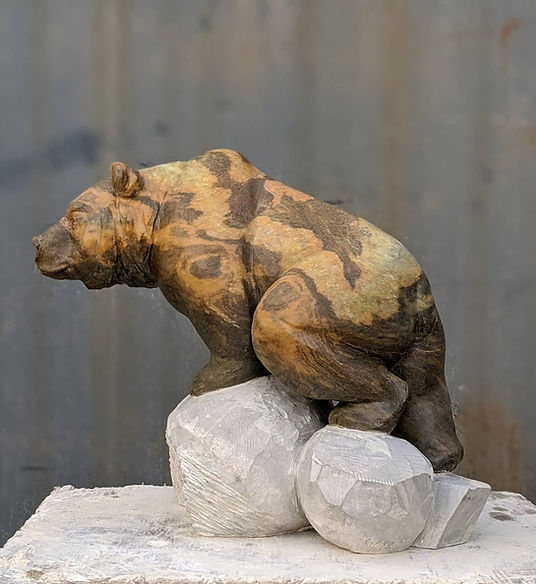soapstone sculptor titled SOLD-Gaia by sculptor andrew gable.