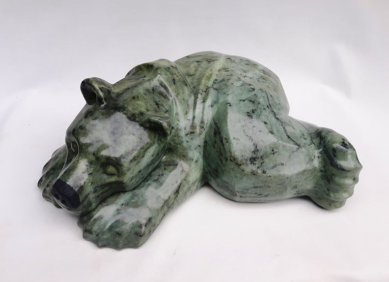 soapstone scupture titled Quiet Time by sculptor roy hinz.