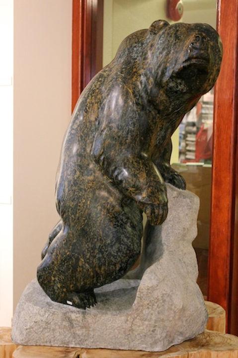 serpentine stone sculpture titled SOLD - Vista by sculptor cathryn jenkins.