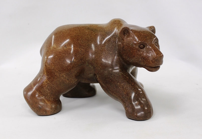 soapstone scupture titled SOLD - Rootbeer by sculptor roy hinz.