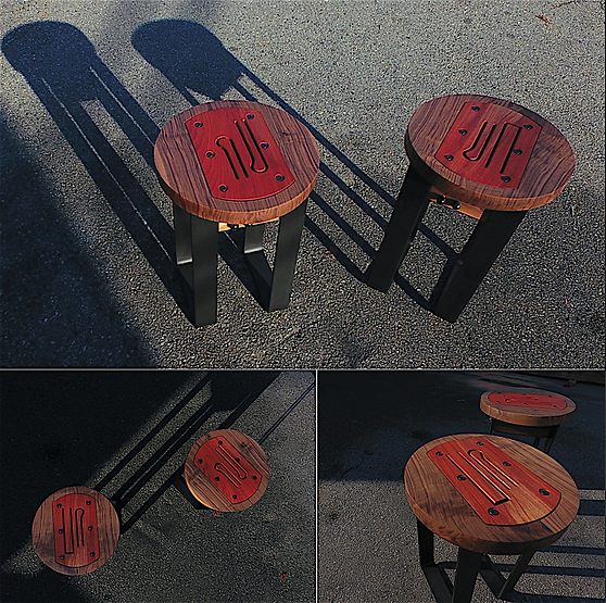 furninture titled SOLD - Round Side Tables by artist benjamin mclaughlin.