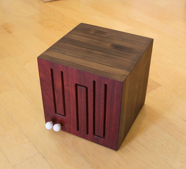 furninture titled SOLD- Cube Drum Rare and Reclaimed by artist benjamin mclaughlin.