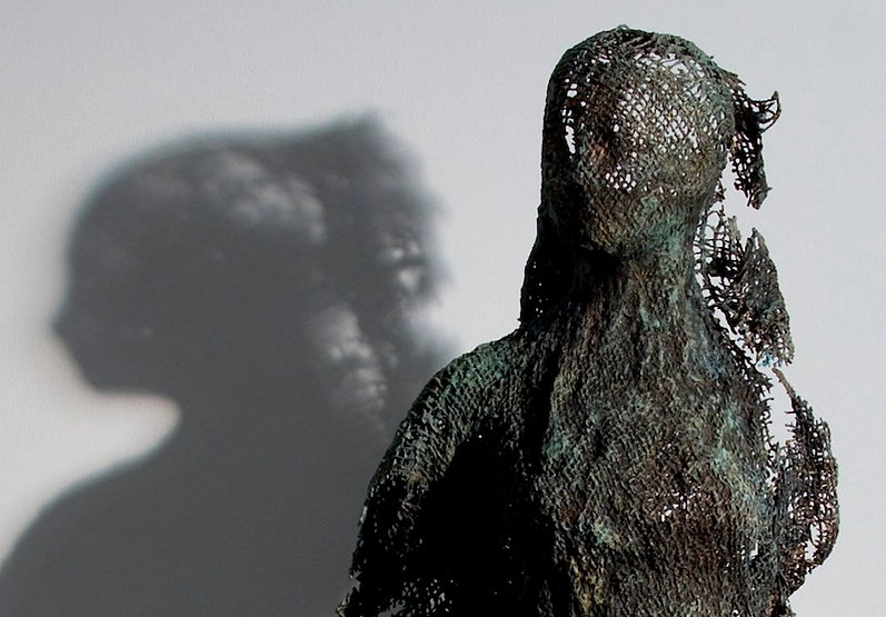 bronze sculpture titled SOLD Shroud #28 by artist camie geary-martin.
