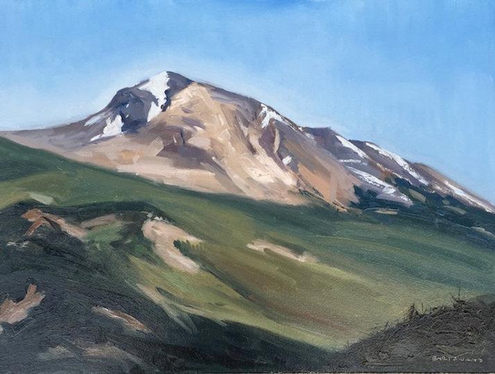 multi-colour oil painting titled Tekarra by artist  jason bartziokas