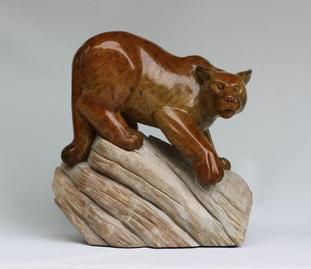 brazilian soapstone scupture titled SOLD Renegade by sculptor roy hinz.