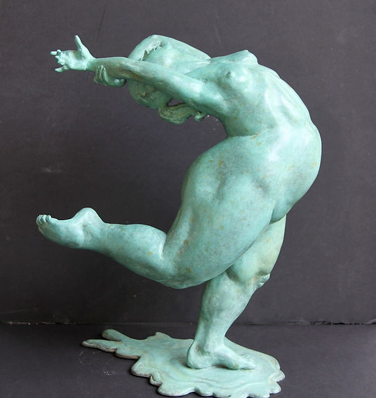 bronze sculpture titled Joyeuse by andrew benyei