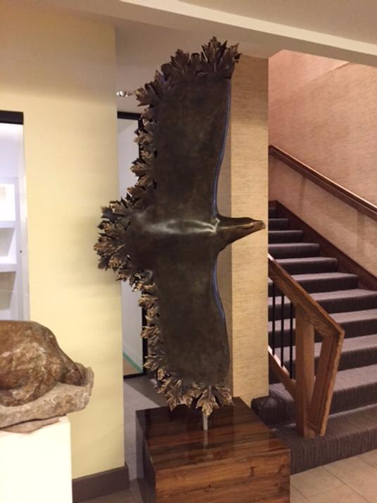 bronze sculpture titled Bronze Eagle by sculptor cathryn jenkins.