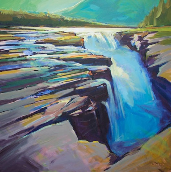 multi-colour arcylic painting titled Athabasca Glare by artist charlie easton.