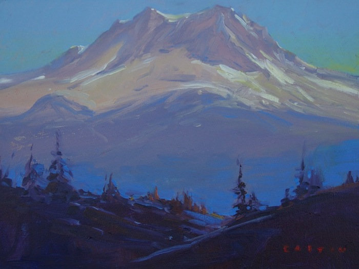 multi-colour arcylic painting titled Garibaldi Haze by artist charlie easton.