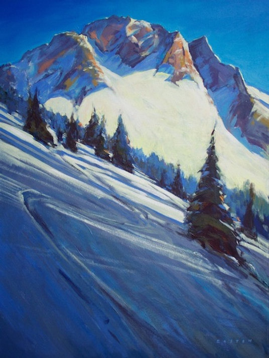 multi-colour arcylic painting titled Blackcomb from 7th Heaven by artist charlie easton.