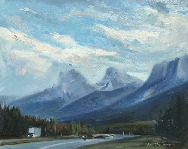 multi-colour oil painting titled Trans Canada by artist  jason bartziokas