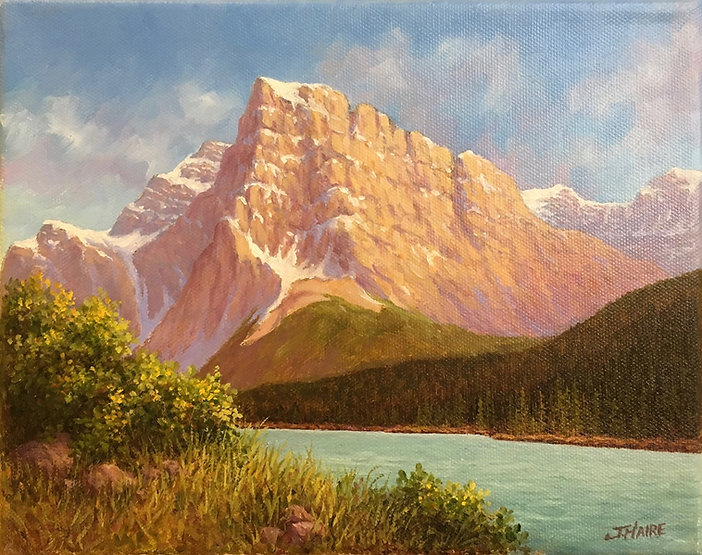 multi-colour oil painting titled SOLD Morning Light by artist joe haire.