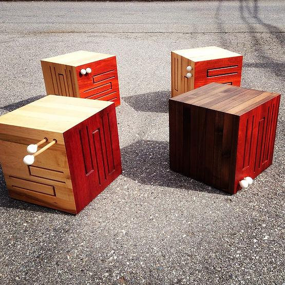 furninture titled SOLD- Cube Drums by artist benjamin mclaughlin.