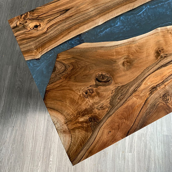furninture titled Detail - Coast to Coast Dining Table by artist benjamin mclaughlin.