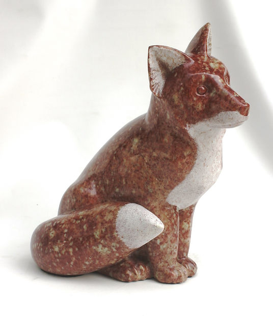soapstone scupture titled SOLD - Hen House Red Alert by sculptor roy hinz.