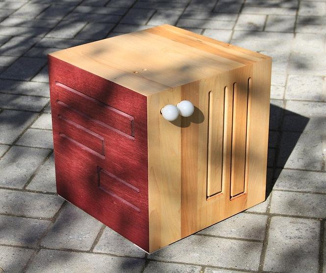 furninture titled SOLD-Cube Drum by artist benjamin mclaughlin.