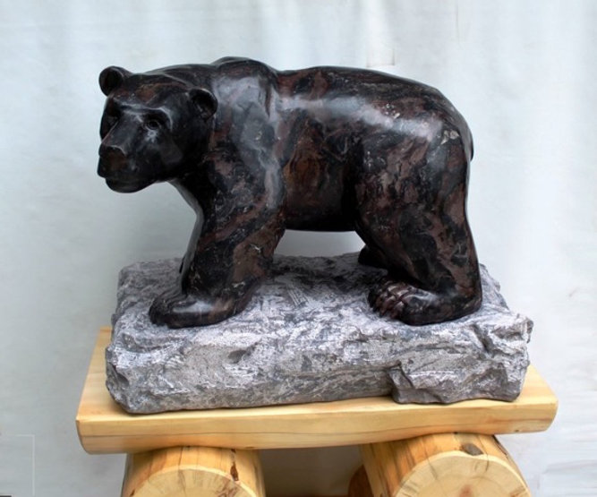 stone carving scupture titled SOLD-Espresso by sculptor roy hinz.