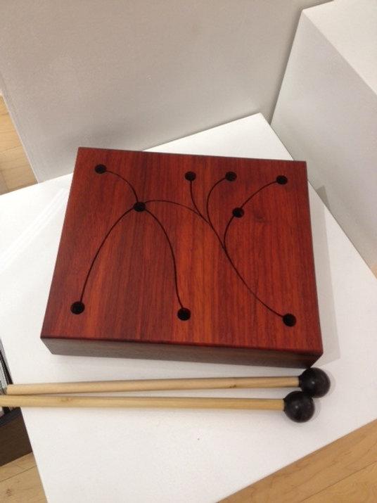 furninture titled SOLD-Walnut Talking Drum by artist benjamin mclaughlin.