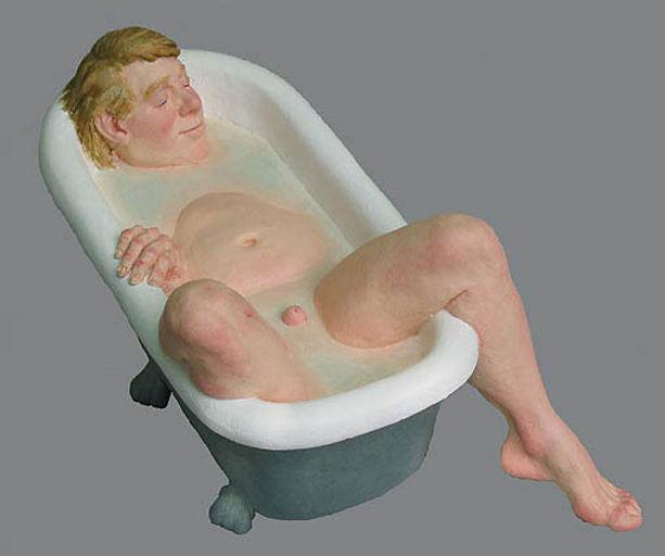 polyurethane sculpture titled Graham' by andrew benyei