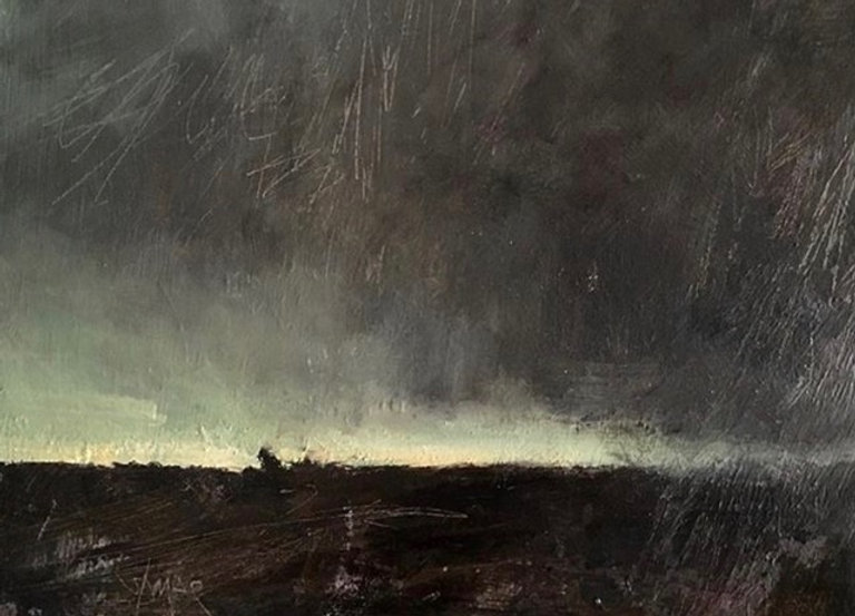 multi-colour oil painting titled Breaking Day by artist david sharpe.