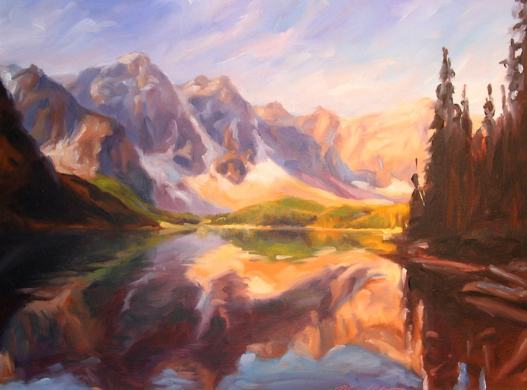 multi-colour oil painting titled SOLD-Serenity by artist michael downs