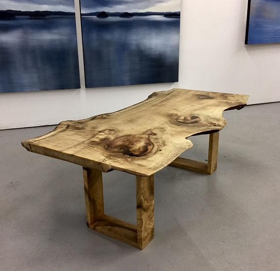 furninture titled SOLD-Reclaimed Myrtle wood table by artist benjamin mclaughlin.