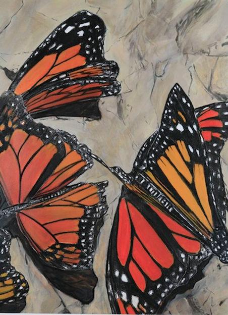 multi-colour mixed media painting titled Cerro Pelon by artist maureen enns