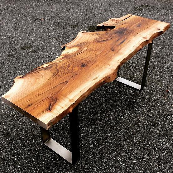 furninture titled SOLD-Reclaimed Walnut hall table by artist benjamin mclaughlin.