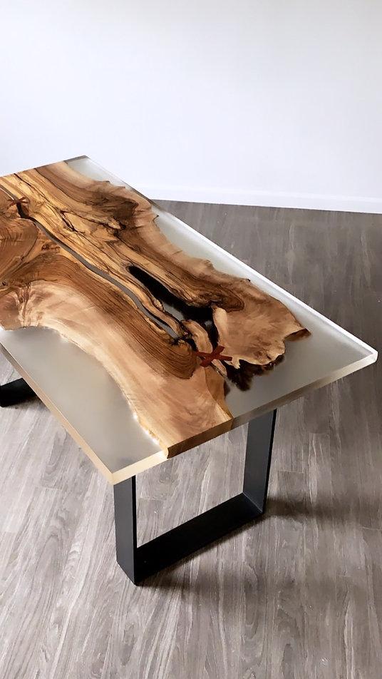 furninture titled SOLD-Wood and Resin Desk by artist benjamin mclaughlin.