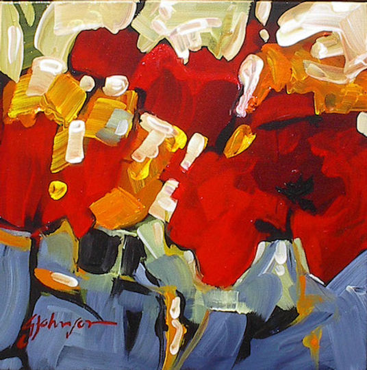 multi-colour acrylic painting titled Summer Song by artist gail johnson.