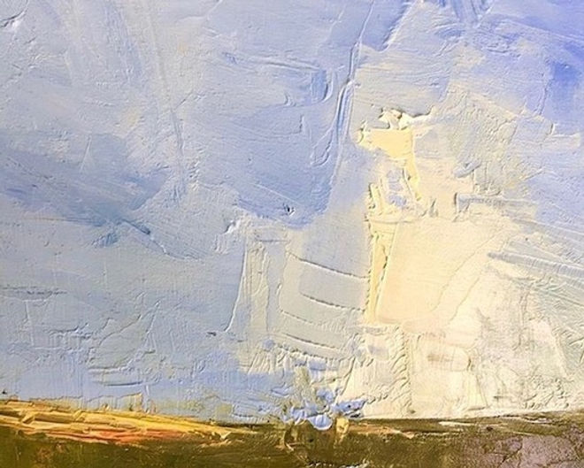 multi-colour oil painting titled Morning Cloud by artist david sharpe.