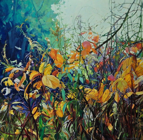 multi-colour oil painting titled SOLD - So close to You by artist wendy bermingham