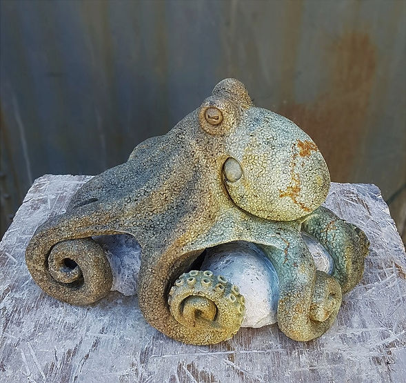 brazilian soapstone sculptor titled Pacific by sculptor andrew gable.