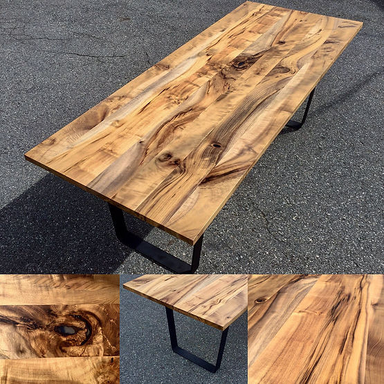 furninture titled SOLD-Oregon Myrtlewood Dining Table by artist benjamin mclaughlin.