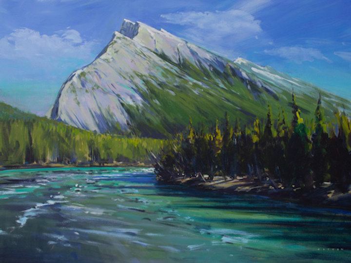 multi-colour arcylic painting titled Magnificent Rundle by artist charlie easton