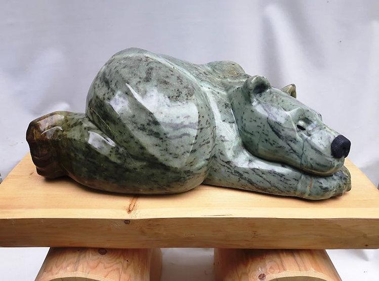 soapstone scupture titled Big Mumma by sculptor roy hinz.