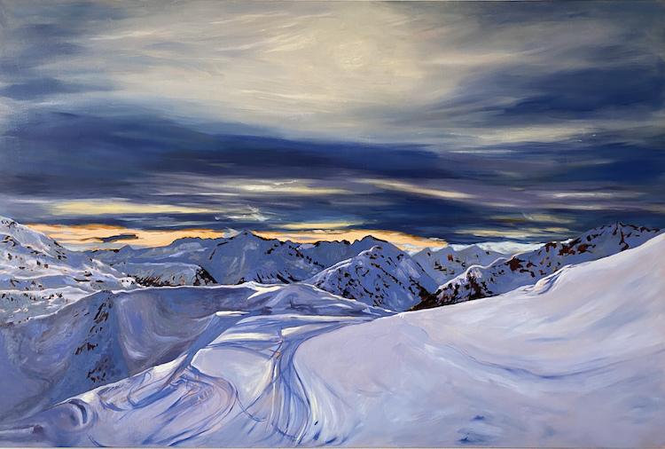 multi-colour oil painting titled Whistler I by artist stephanie taylor.