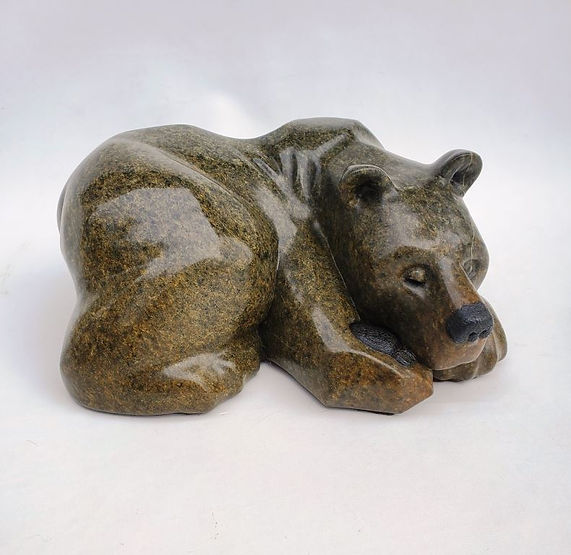 soapstone scupture titled SOLD-Good Place by sculptor roy hinz.